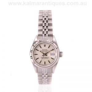 Unworn vintage Rolex Datejust reference 69174 with the linen dial
