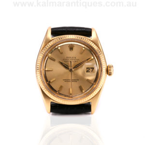 Vintage 18ct gold Rolex Datejust model 1601