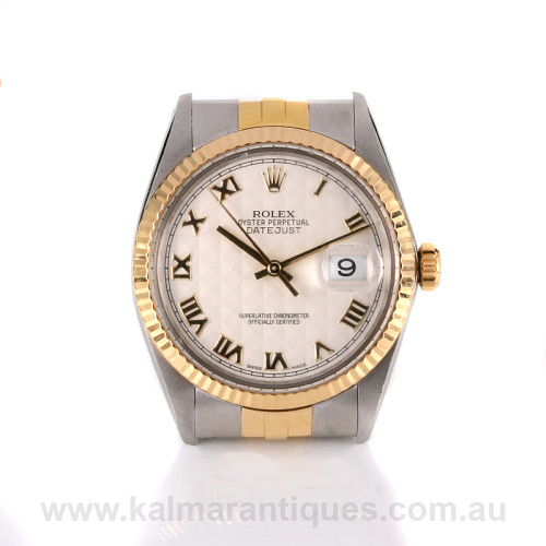 Rolex Oyster Perpetual Datejust 16013 pyramid dial