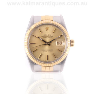 Gents 18ct gold and steel Rolex Datejust model 16013. Rolex Sydney