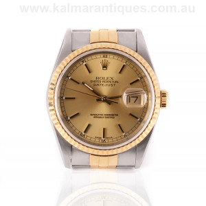Gents 18ct gold and steel Rolex Datejust reference 16233