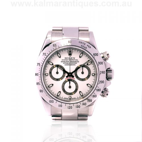 Stainless steel Rolex Daytona 116520 with box and papersStainless steel Rolex Daytona 116520 with box and papers