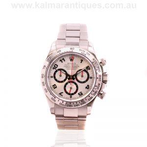 18ct white gold white dial Rolex Daytona reference 116509