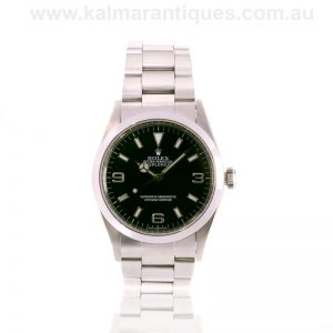 Stainless steel Rolex Explorer I reference 14270