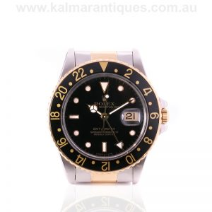 18ct gold and steel Rolex GMT Master reference 16753