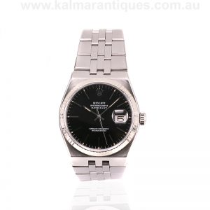 Black dial Rolex Oysterquartz reference 17014 from 1980