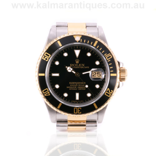 18ct gold and steel Rolex Submariner reference 16803