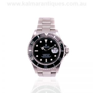 2007 stainless steel Rolex Submariner reference 16610