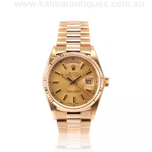 18ct Rolex President reference 18038 from 1980