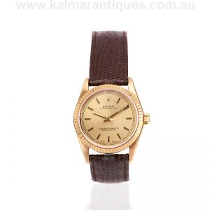 30mm 18 carat yellow gold Rolex Oyster Perpetual reference 67518