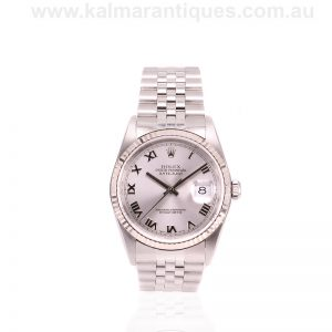 2002 stainless steel Rolex Oyster Perpetual Datejust reference 16234