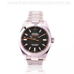 2009 black dial Rolex Milgauss reference 116400