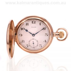 Gold full hunter Rolex pocket watch made in 1925