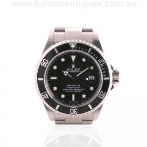 Stainless steel 2003 Rolex Sea Dweller reference 16600