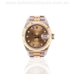 Ladies rare Rolex Tridor 3 colour gold watch reference 69179b