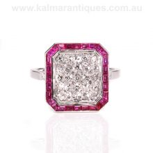 Ruby and diamond ring from the Retro era of the 1950's