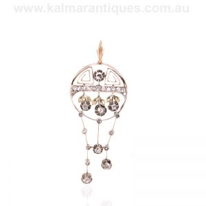 Antique Russian diamond pendant made in the early 1900's