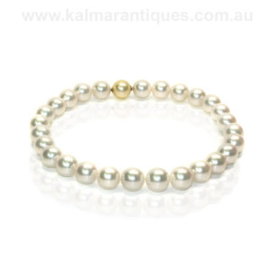 Rare sized extremely large South Sea pearl necklace