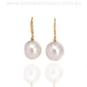 18ct South Sea pearl earrings Sydney