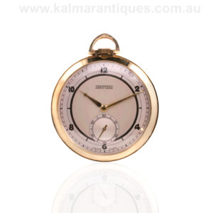 Art Deco 1920's 14ct open face Tavannes pocket watch