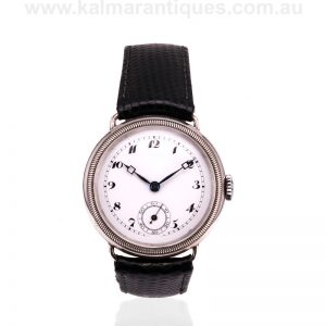 Sterling silver watch made in 1926 in a trench style case