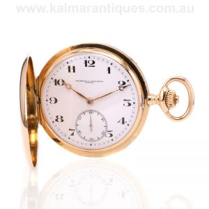 18 carat yellow gold Vacheron & Constantin pocket watch made in 1923