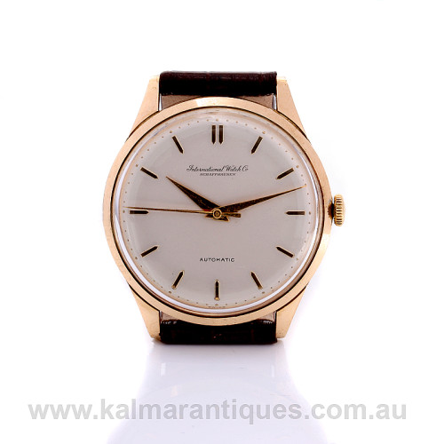 Vintage 18ct rose gold IWC watch calibre 853