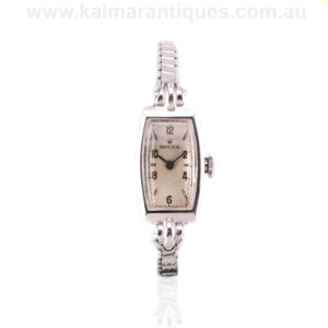 Vintage 1930's white gold ladies Art Deco Rolex watch