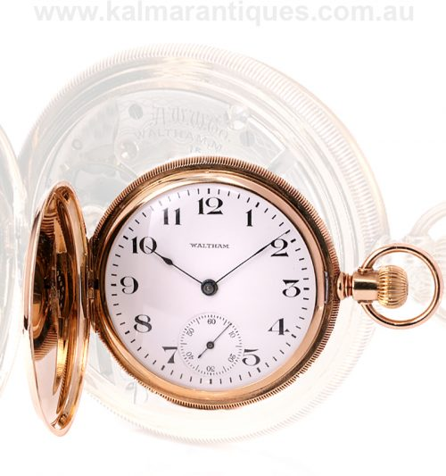 14ct gold Waltham pocket watch made in 1918 in exceptional condition