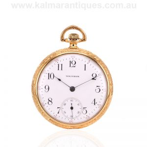 14 carat gold filled Antique Waltham pocket watch made in 1914