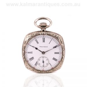 Gents Art Deco era Waltham pocket watch made in 1924