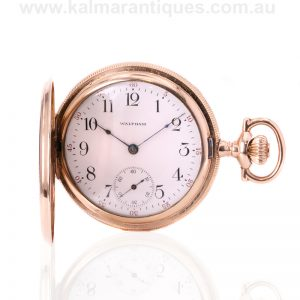 Antique rolled gold Waltham pocket watch made in 1916. See this Waltham pocket watch
