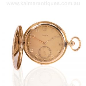 14ct gold Art Deco Zenith pocket watch from the 1930's
