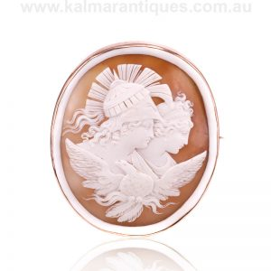 Very large antique cameo of Zeus and Hera