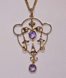 9ct amethyst pendant
