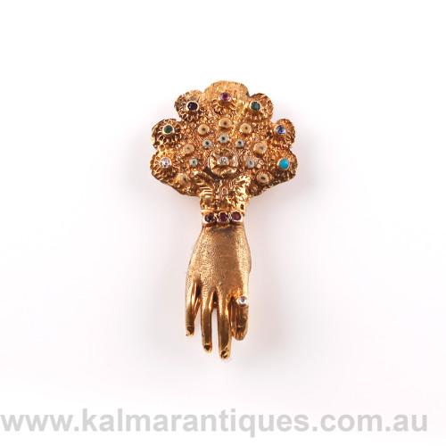 Antique Dearest brooch