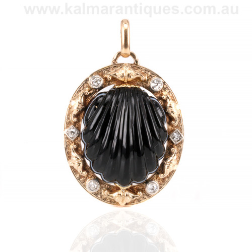 Antique French diamond pendant