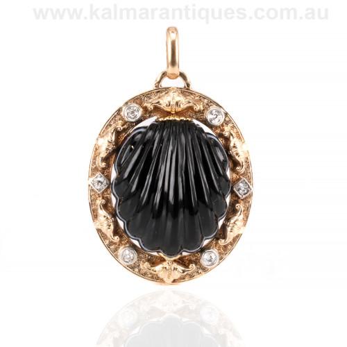Antique French diamond pendant