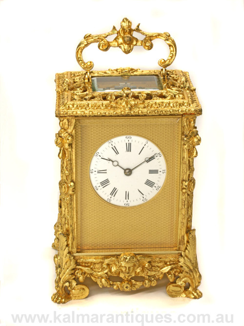 Antique repeater carriage clock by Jules Brunelot