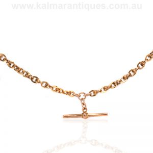 15ct rose gold antique Albert chain from the 1890's