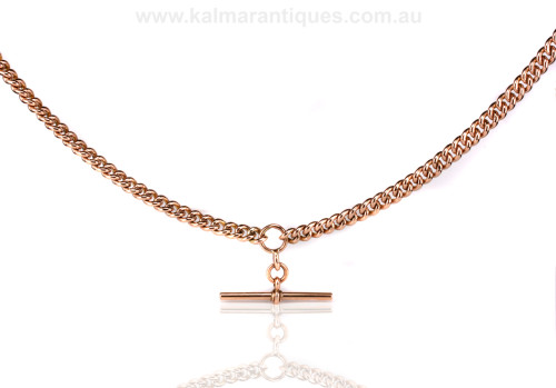 Antique rose gold Albert chain made in 1914