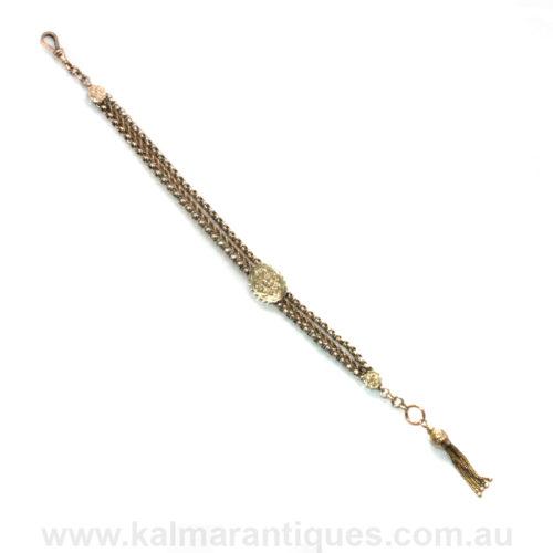 Antique albertina bracelet