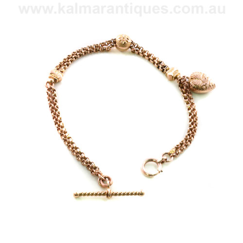 Antique rose gold Albertina bracelet