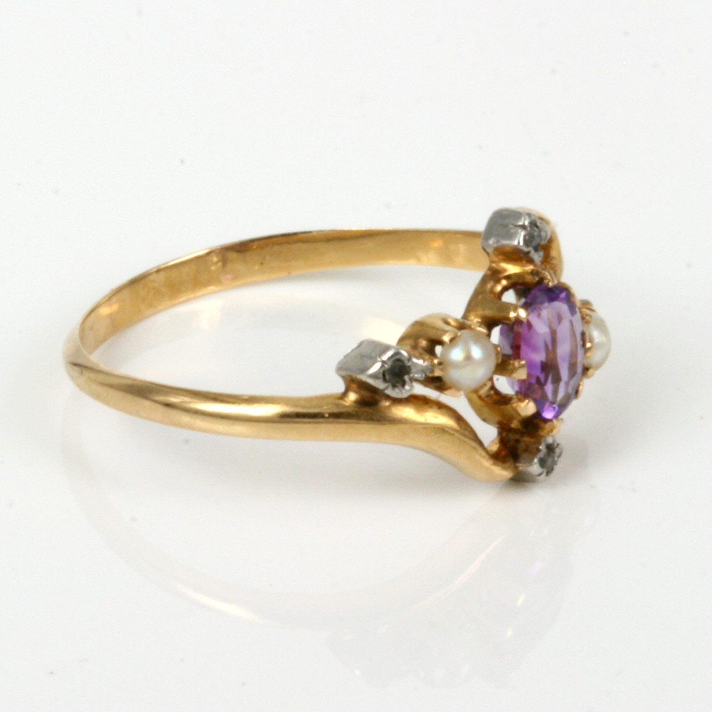 buy antique amethyst pearl and ring sold