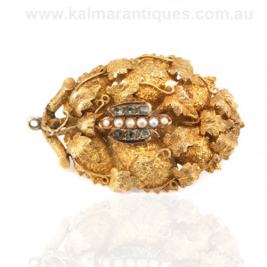 Antique Australian brooch in 15ct gold