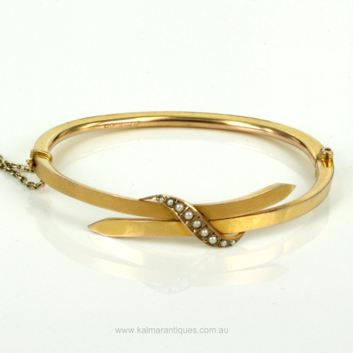 Antique pearl bangle made in 1889