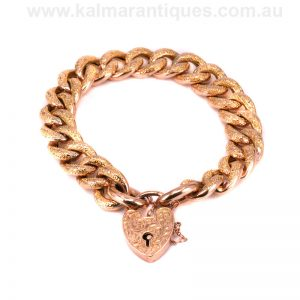 Antique rose gold night and day bracelet made in 1907
