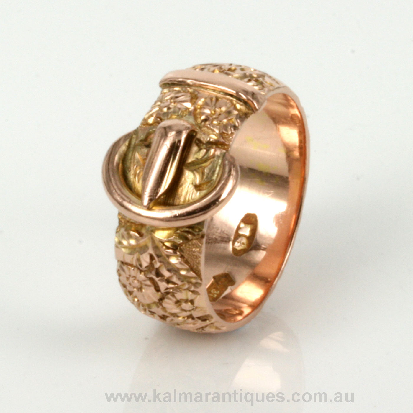 Buy Antique Rose Gold Buckle Ring Sold Items Sold Rings