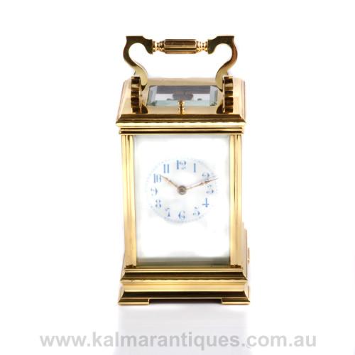 Antique repeater carriage clock