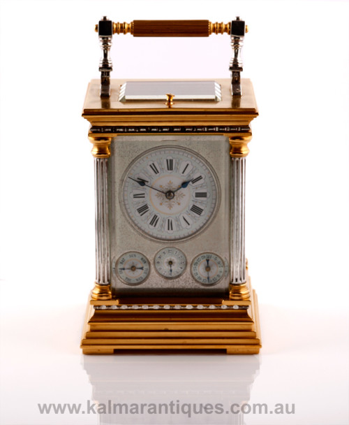 Antique grande sonnerie repeater carriage clock